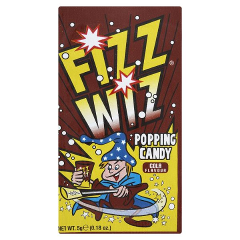 50 x Cola Flavour Fizz Wiz Popping Candy 5g Wholesale Bulk Buy